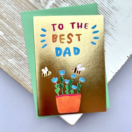 'To The Best Dad' Greetings Card