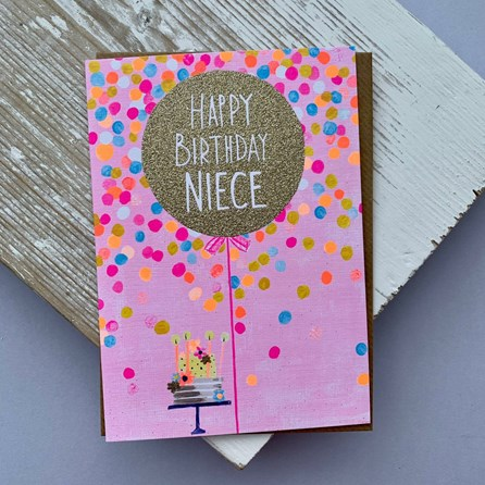 'Happy Birthday Niece' Greetings Card