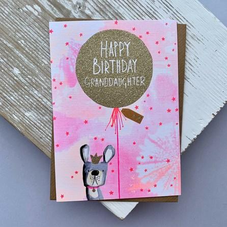'Happy Birthday Granddaughter' Greetings Card