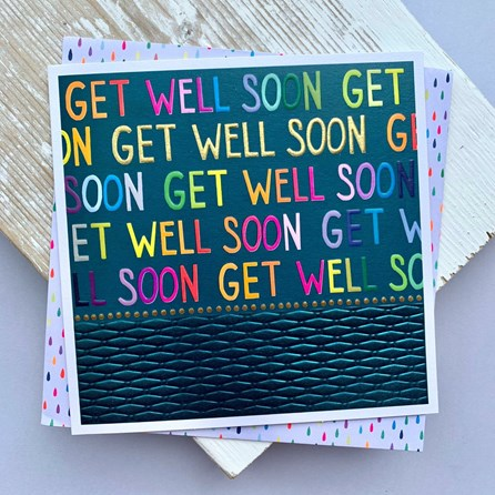 'Get Well Soon' Greetings Card