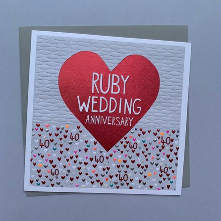 'Ruby Wedding Anniversary' Greetings Card