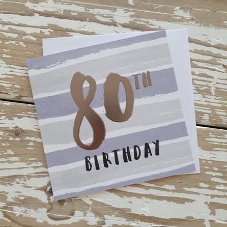 '80th Birthday' Greetings Card