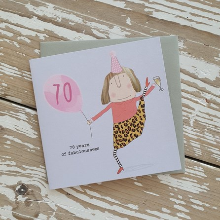 '70 Years Of Fabulousness' Greetings Card