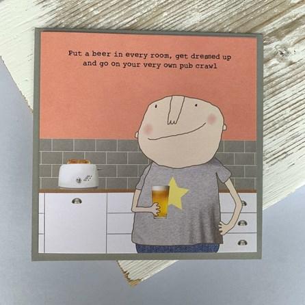 '...Very Own Pub Crawl' Greetings Card