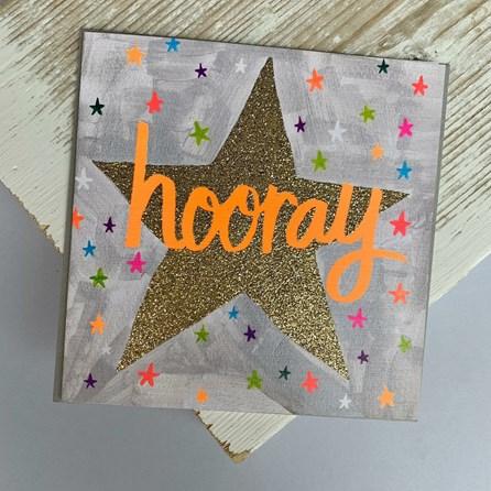 'Hooray' Greetings Card