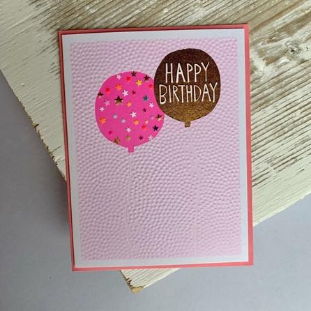 'Happy Birthday' Balloon Greetings Card