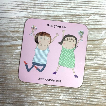 'Gin Goes In...' Drinks Coaster