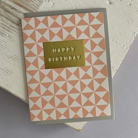 'Happy Birthday' Geometric Greetings Card