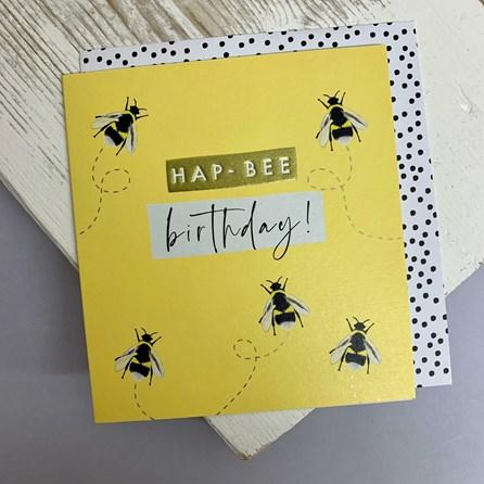 'Hap-Bee Birthday' Greetings Card
