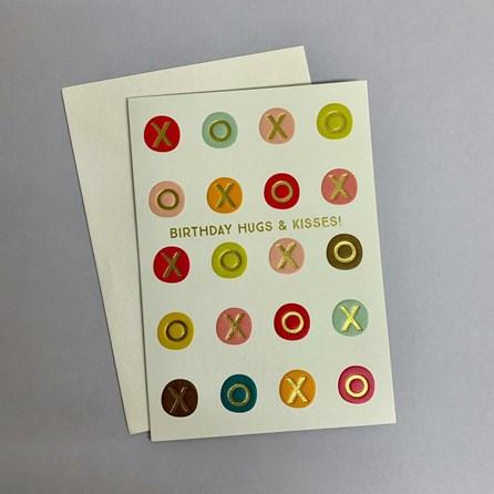 'Birthday Hugs And Kisses!' Greetings Card
