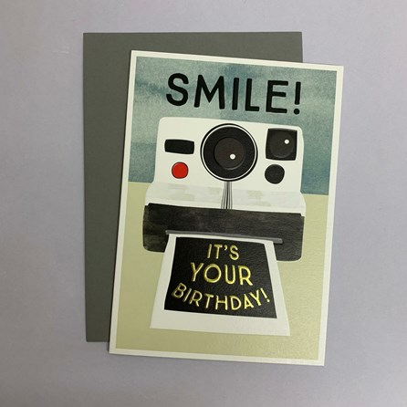 'Smile! It's Your Birthday!' Greetings Card