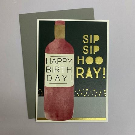 'Sip Sip Hooray!...' Greetings Card