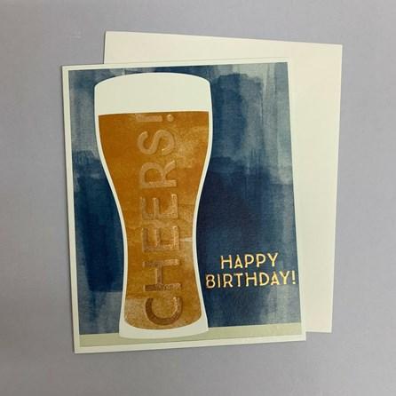 'Cheers! Happy Birthday' Greetings Card
