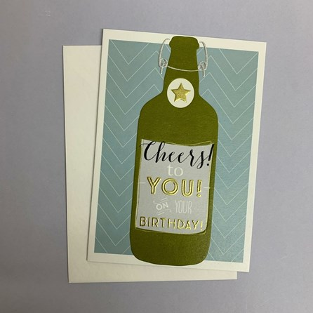 'Cheers To You!...' Greetings Card