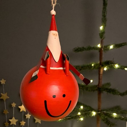 Space Hopper Santa Hanging Christmas Decoration