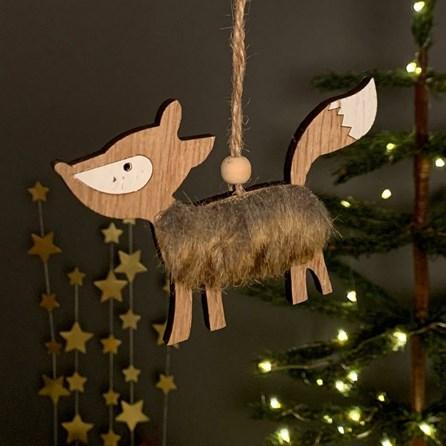 Wooden Fox Hanging Decoration