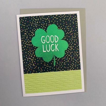 'Good Luck' Greetings Card