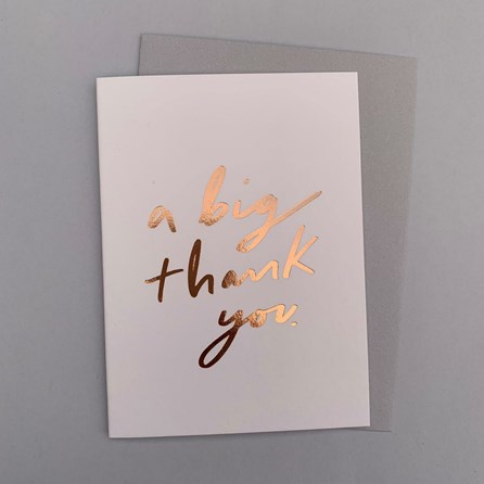 'A Big Thank You' Greetings Card