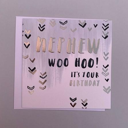 'Nephew Woo Hoo!...' Greetings Card