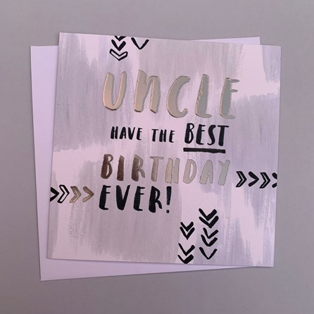 'Uncle...' Luxe Birthday Card