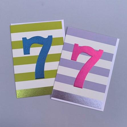 Children's 7th Birthday Card