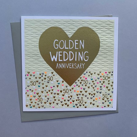 'Golden Wedding Anniversary' Greetings Card
