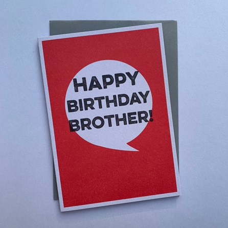 'Happy Birthday Brother!' Greetings Card