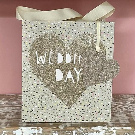 'Wedding Day' Heart Medium Gift Bag