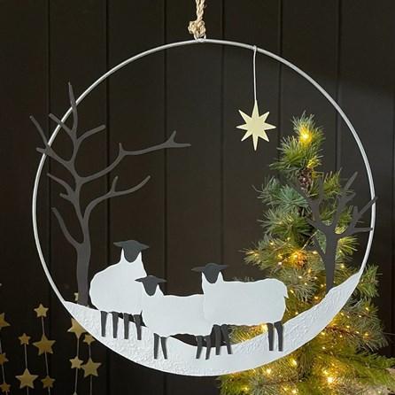 Winter Sheep Hanging Decoration
