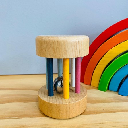 Wooden Roll Rattle