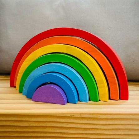 Wooden Small Stacking Rainbow Toy