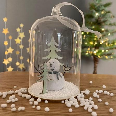Snowman In A Snow Globe