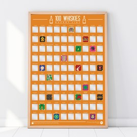 100 Whiskies To Try Bucket List Poster
