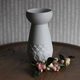 Porcelain Bulb Vase And Tea Light Holder