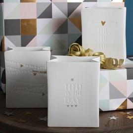 Porcelain 'In The Bag' Tea Lights