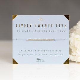 'Lively Twenty Five' Milestone Bracelet