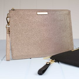 Stunning Champagne Stardust Evening Clutch Bag