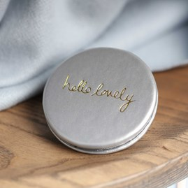 Katie Loxton Personalised 'Hello Lovely' Silver Compact Mirror