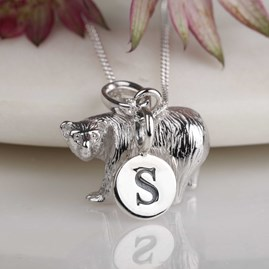 Personalised Solid Silver Polar Bear Necklace