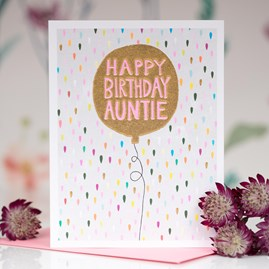 'Happy Birthday Auntie' Greetings Card