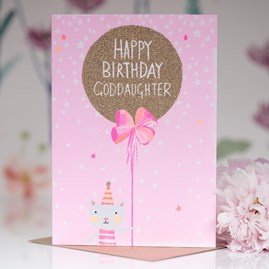 'Happy Birthday Goddaughter' Greetings Card