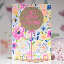 'Happy Birthday Grandma' Greetings Card