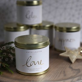 'Love' Round Tin Candle