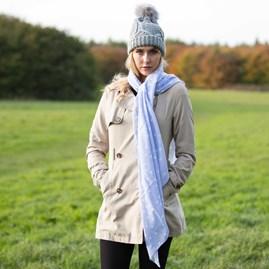 Katie Loxton 'Love…' Designer Pale Blue Scarf