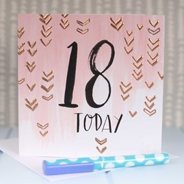 '18 Today' Rose Gold Luxe Birthday Card