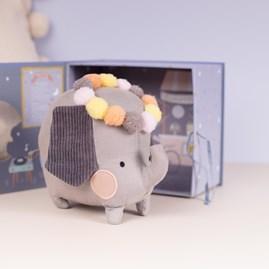 Soft Elephant Cuddly Toy In A Gift Box