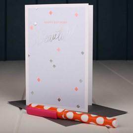 'Happy Birthday Beautiful' Birthday Card