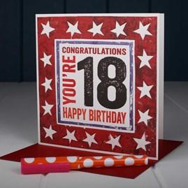 'Happy 18th' Birthday Card