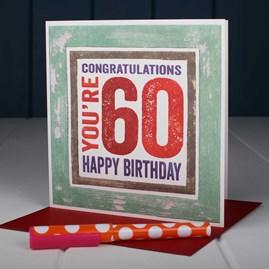 'Happy 60th' Birthday Card