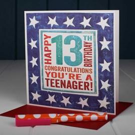 'Happy 13th' Birthday Card